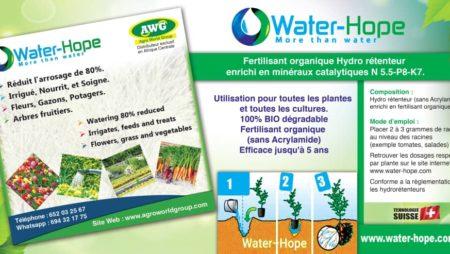 Agro World Group, représentant  de la société  Water-Hope en Afrique  central
